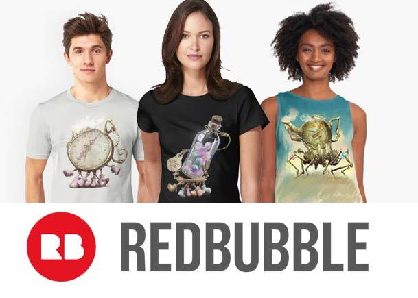 social, redbubble, store