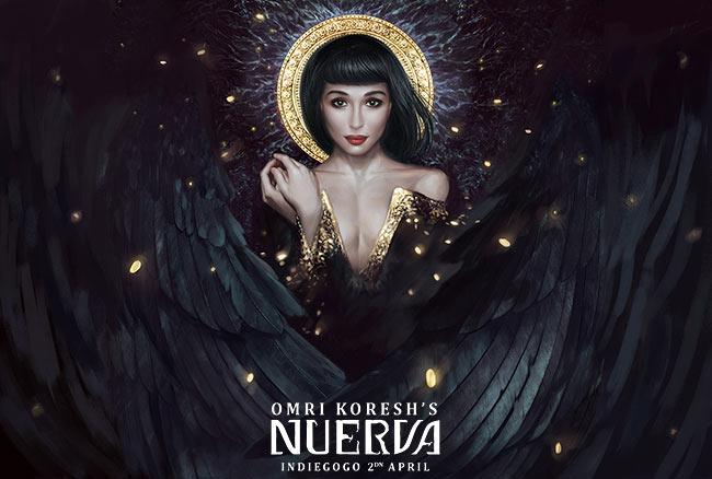 nuerva, book cover, omri koresh, digital art, painting