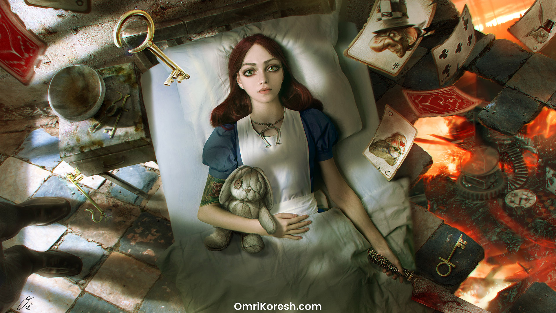 "Alice 3 pitch, American ""Alice wake up"" Artwork"