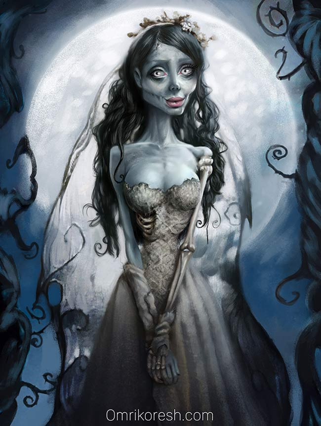 corpse bride, update, grace almera, photography, painting, tim burton, Sahar Tabar