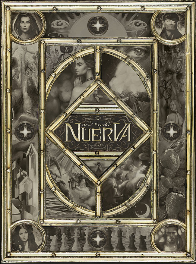 Nuerva, art book, fantasy, book, art, omri koresh, cover