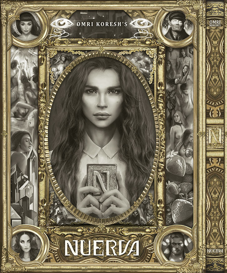 nuerva, book cover, omri koresh, digital art, painting