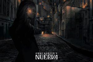 the black city of Nuerva, book cover, omri koresh, omrikoreshart, artist, painter, tel aviv, israel, art book, graphic novel, comic book, brom