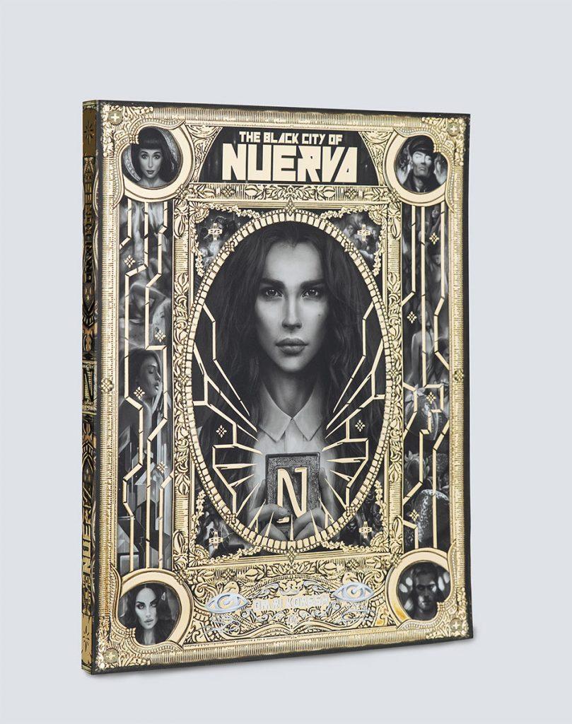 the black city of Nuerva, book cover, omri koresh, omrikoreshart