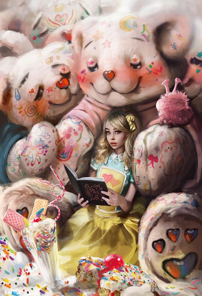 omri koresh, painting, author, artist, omrikoreshart, birthday