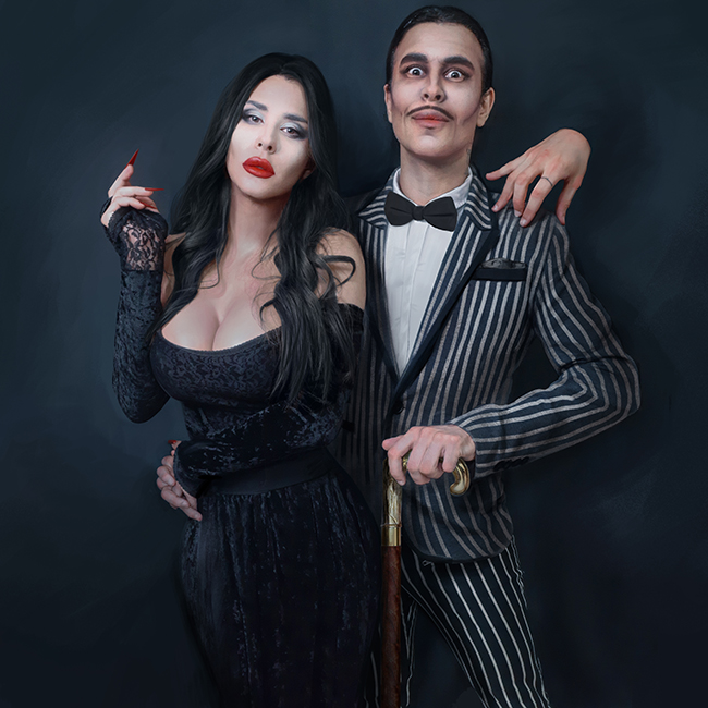 omri koresh, morticia Addams, gomez addams, addams family, thing, art director